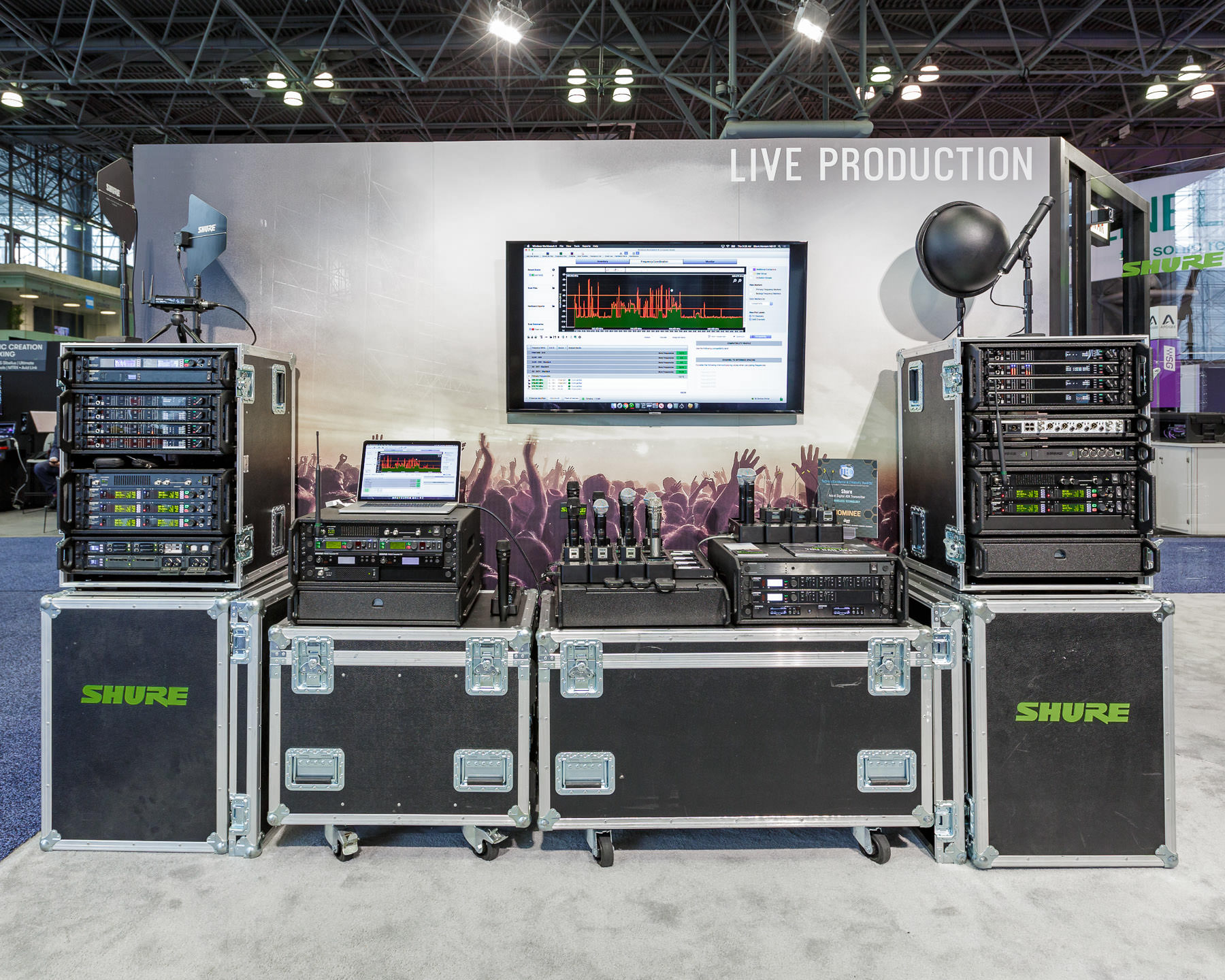 trade show photography from the AES New York pro audio convention